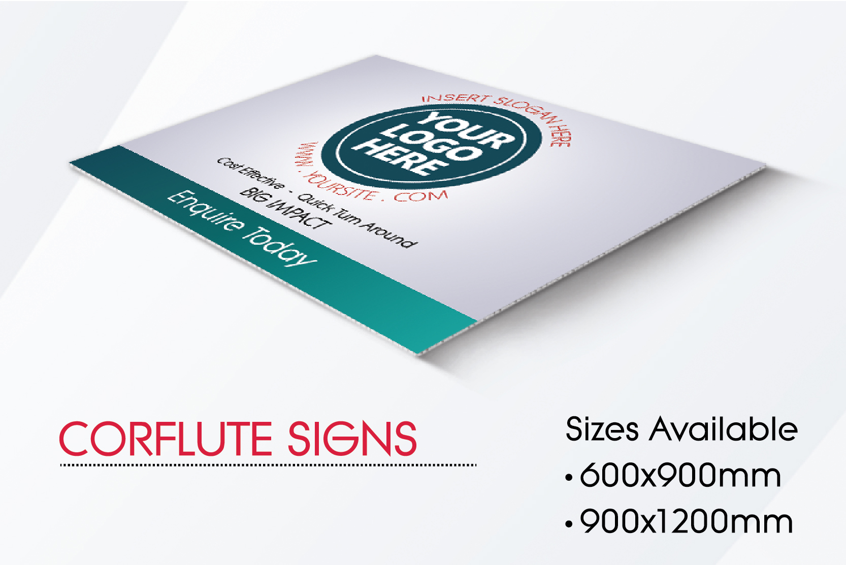 Corflute Signs - 3mm Board