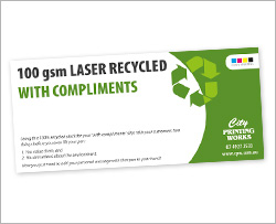 100gsm Recycled Laser
